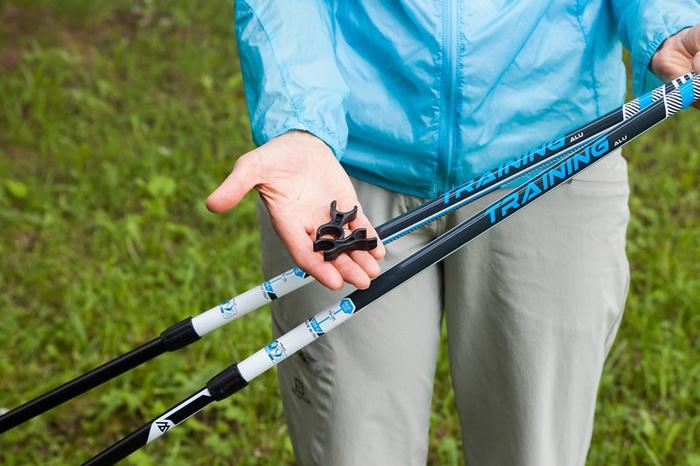 Как установить палки для скандинавской ходьбы